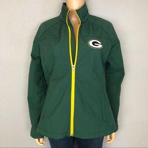 NFL Green Bay Packers Green Zip Up Jacket